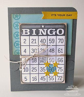 Document It Bingo Birthday Sentiments Western Star Border Duo