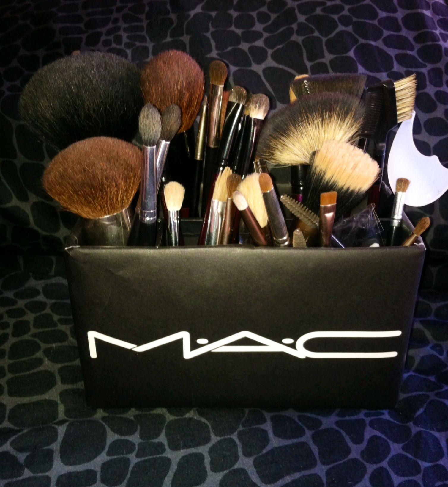 DIY MAC brush holder 2 pencil boxes MAC paper bag Easy Diy