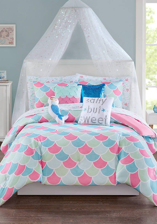 Mermaid Comforter Set Mermaid Decor Bedroom Tween Girl Bedroom