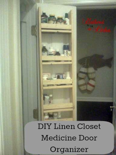 DIY Linen/Medicine Closet Door Organizer BUILDING PLANS
