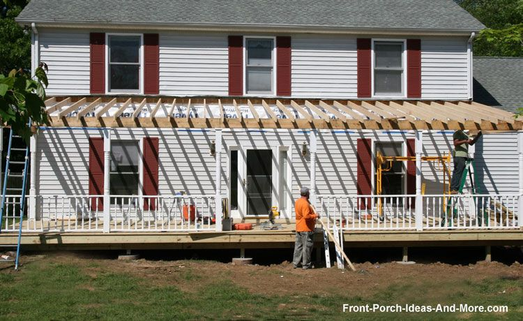 Building A Porch Roof Porch Roof Framing Building A Porch Porch Roof Front Porch Addition