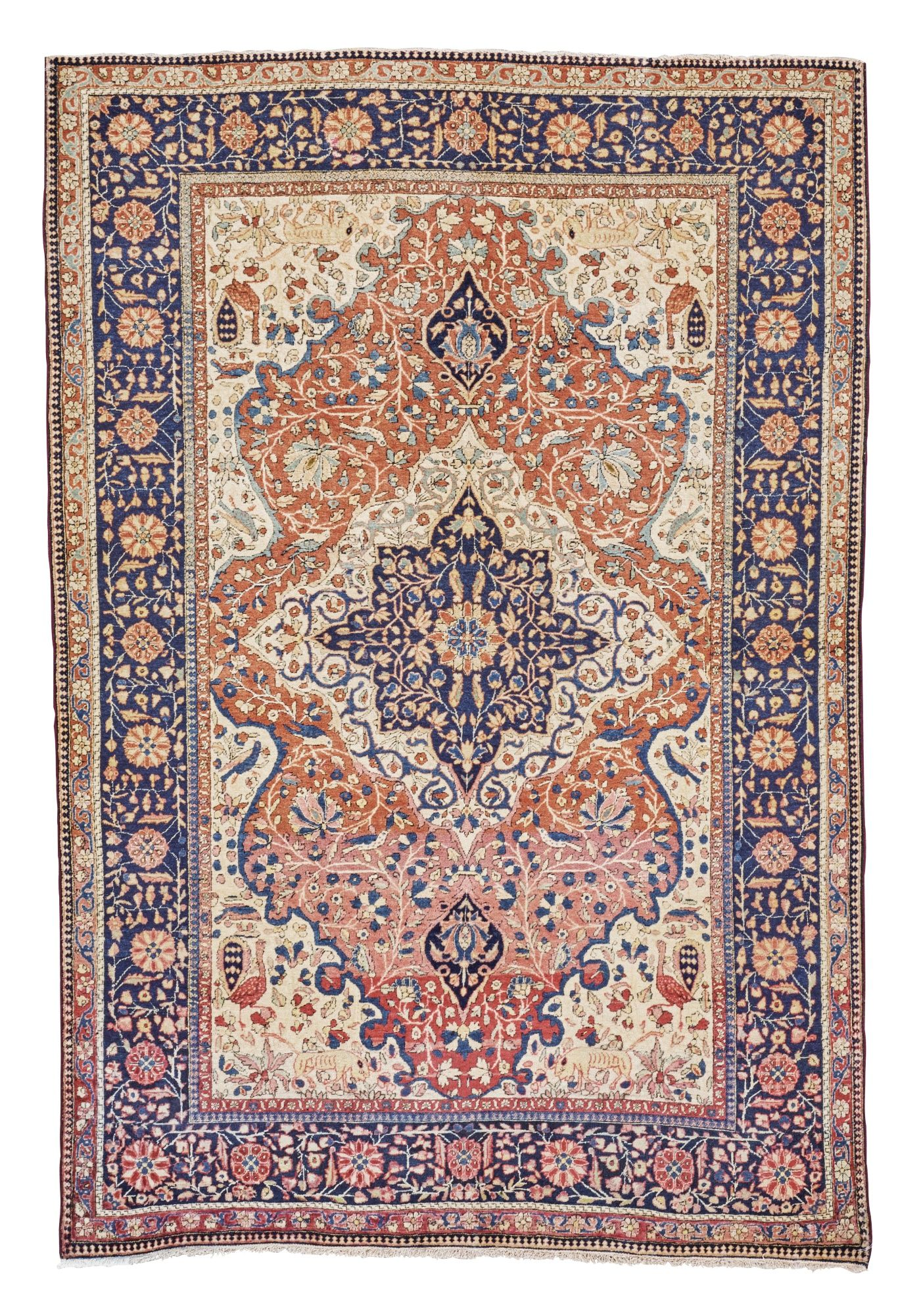 Large Floral Vintage Persian Silk Kashan Rug 60019 In 2020 Inspiral Carpets Rugs Where To Buy Carpet