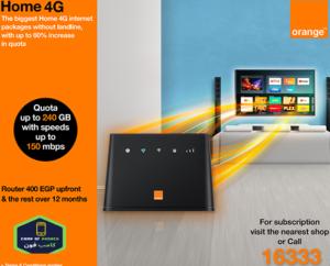 أسعار باقات الانترنت الهوائي Home 4g Orange عروض اروانج 2020 In 2020 4g Internet Internet Packages Quata