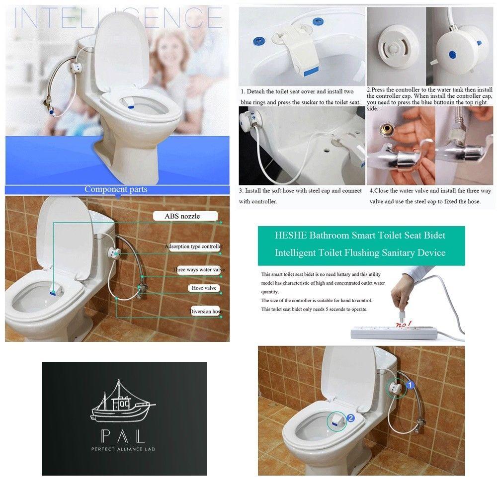 Smart Home Automatic Bathroom Water Bidet Flushing Toilet Seat