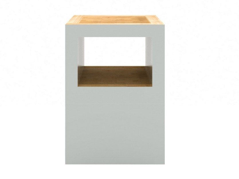 Sgabello in legno BLOCK STOOL OPEN by Universo Positivo