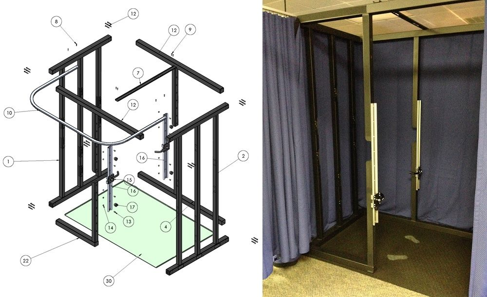 Assembly Diagram For The Size Stream 3d Body Scanner With Images