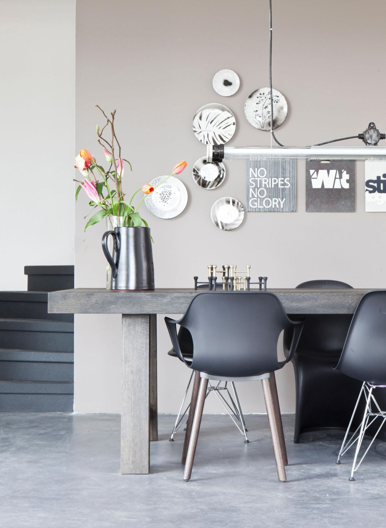 Innenfarbe im haus colours and finishes in this grey and beige not greige dining room