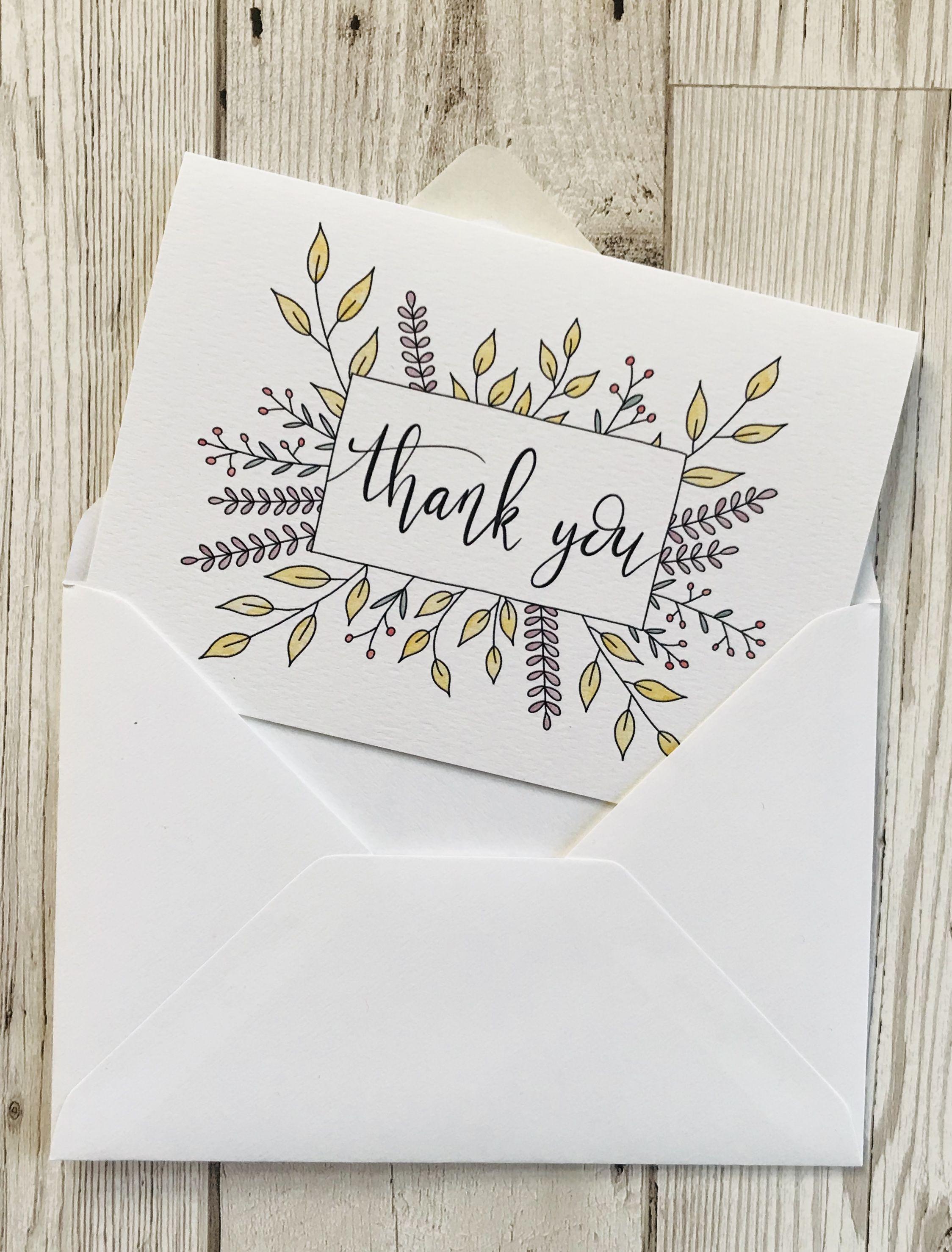 Wedding thank you cards Hand lettered floral thank you cards suitable for wedding thank you notes or any other special occasion Eco friendly too