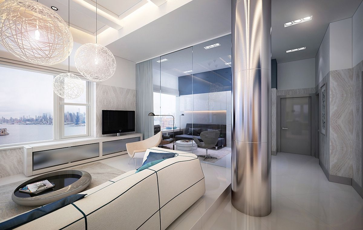 Great Awe Inspiring Hudson River Apartment