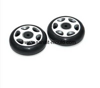 High precision luggage wheel plastic injection mould