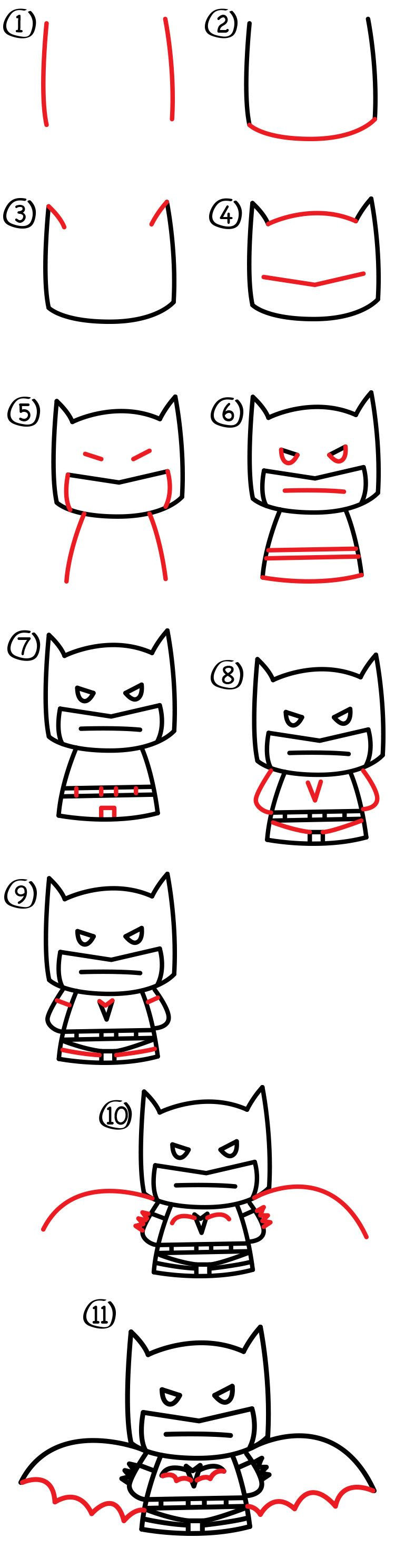 How To Draw Cartoon Batman - Art For Kids Hub - | Dibujo, Dibujar y ...