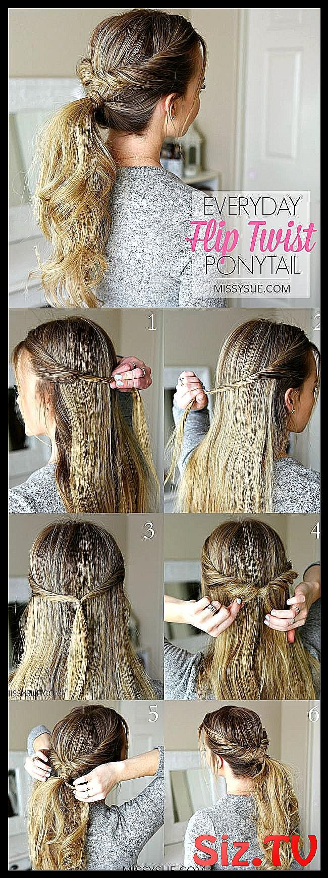 Everyday Flip Twist Ponytail Ponytails are such a great go-to hairstyle. They're quick, easy,... Everyday Flip Twist Ponytail Ponytails are such a great go-to hairstyle. They're quick, easy,...,