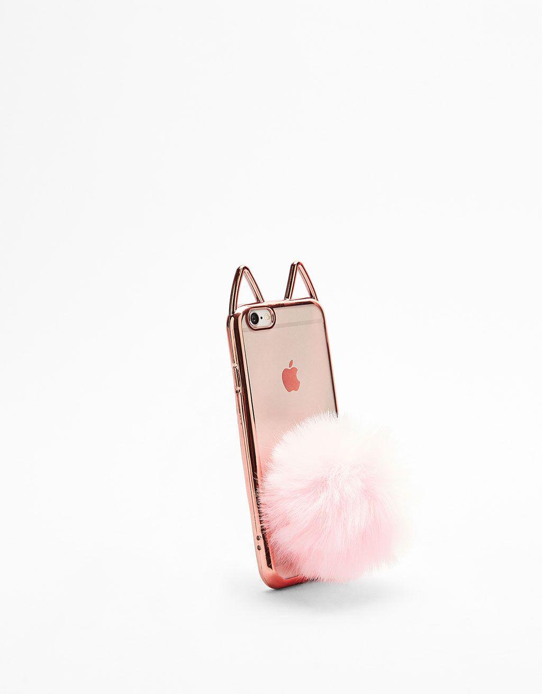d0487cb968c Carcasa gato transparente pompón iPhone 6/6s in 2019 | Phone cases ...