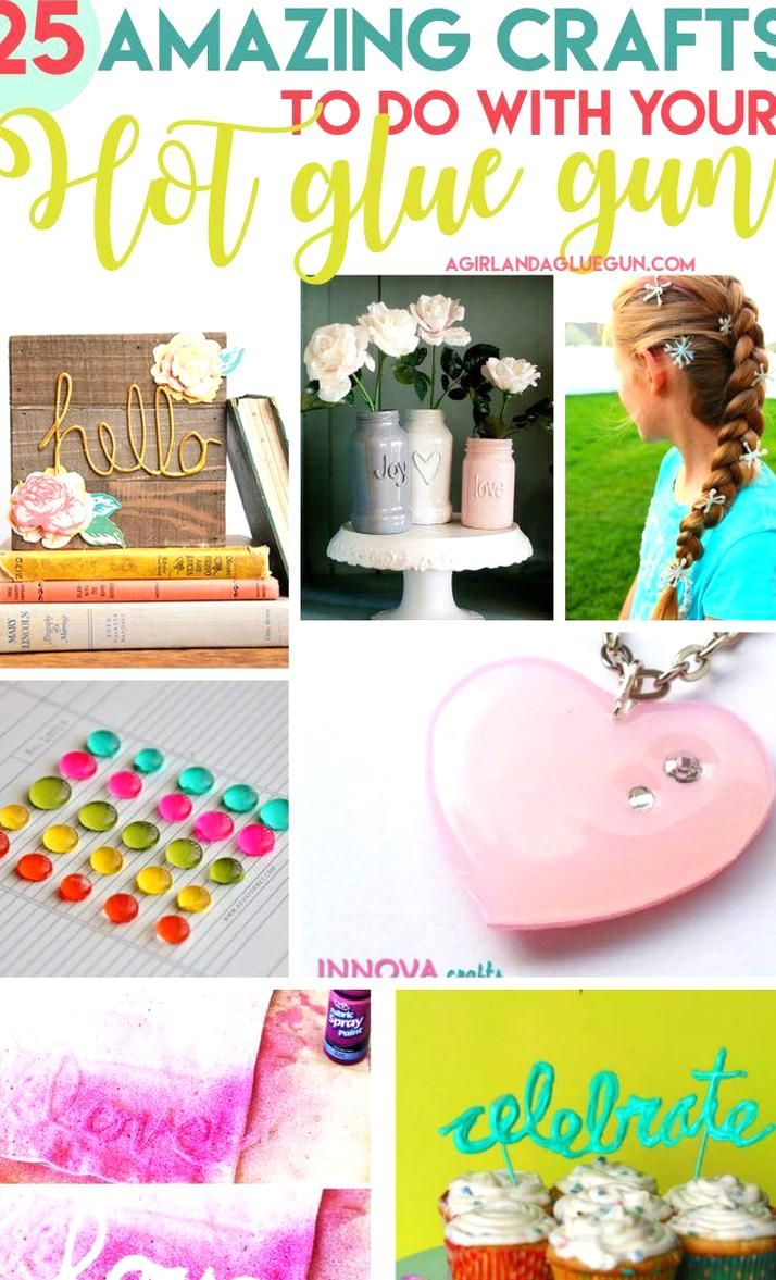 Im kinda crazy about glue gun crafts lately and this caught my attention  25 amazing crafts to do wi
