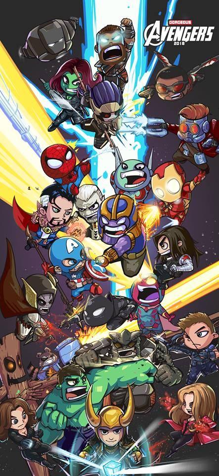 Avengers Infinity War By Gao Yin Heróis Desenhos De
