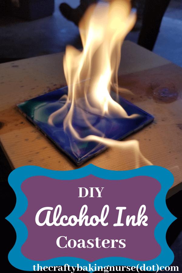 DIY Alcohol Ink Coasters - The Crafty Baking Nurse