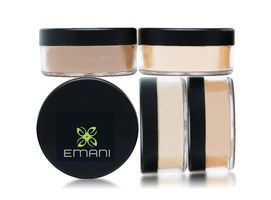 EMANI Crushed Mineral Foundation. For all skin types, 9g. Pure Mineral Foundation 100%. Ideal for all skin types, and offering light to full coverage, this lightweight, talc and paraben free, loose foundation powder buffs on to your skin like silk. Provides a physical barrier sunscreen and protects against harmful UVA & UVB rays.