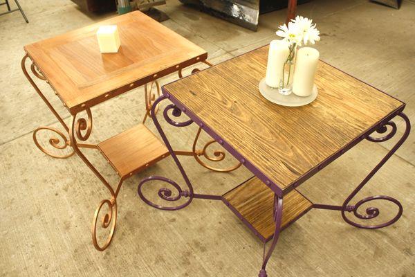 Mesitas con estilo en madera-hierro@hotmail Las podemos hacer en - mesitas de madera