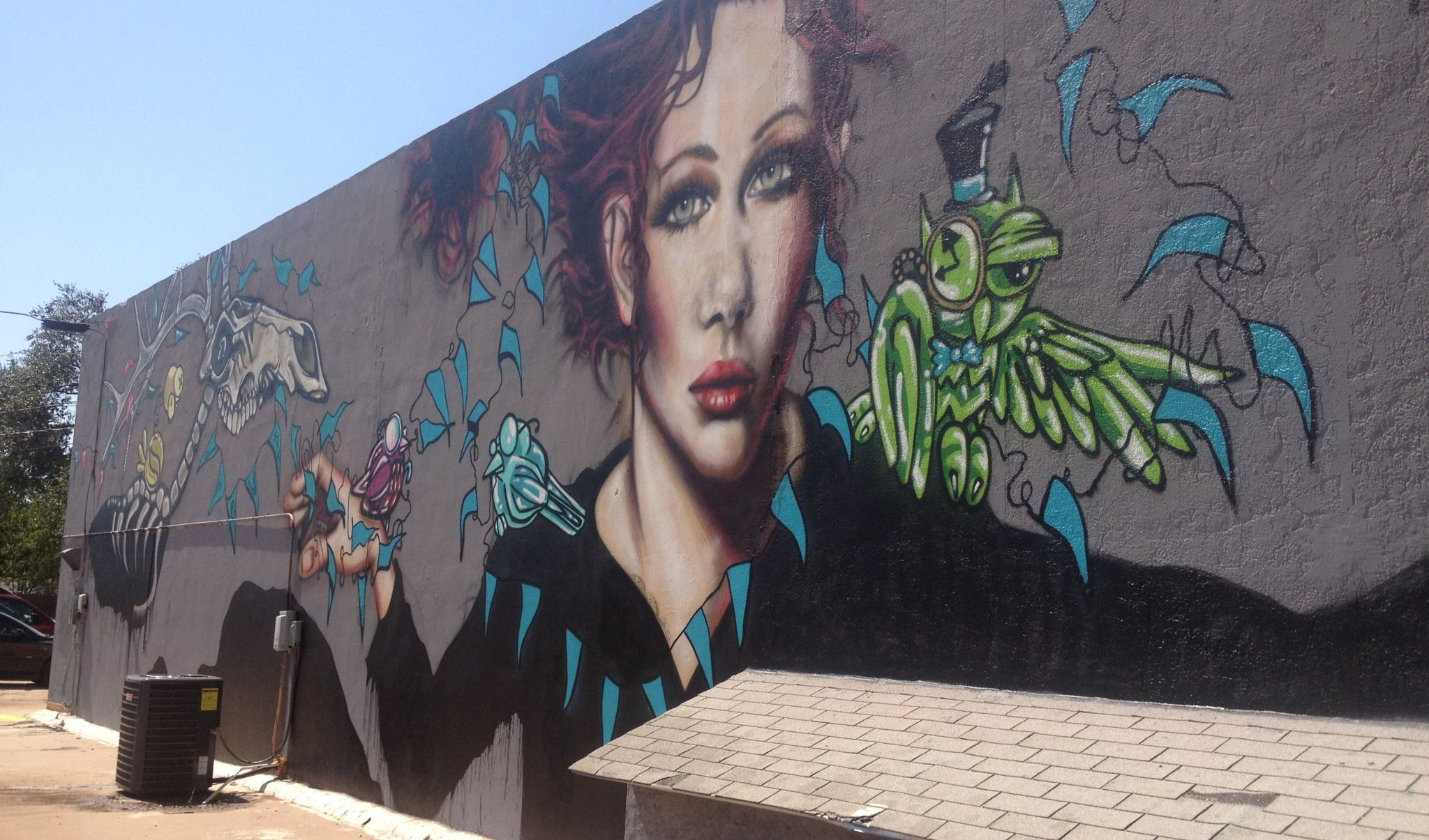 Check out some of the amazing street art here in Lubbock