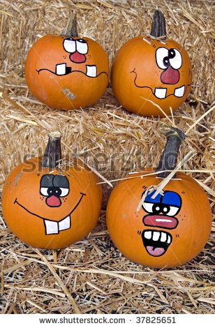 Funny Pumpkin Faces To Paint Bing Images Creations D Halloween Decoration Citrouille Idee Halloween