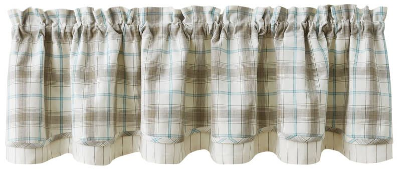 Lake Livin Lined Layered Curtain Valance 72 X 16 In 2021 Curtains Valance Curtains Valance