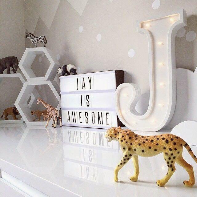 Letras luminosas para habitaciones infantiles, ¡una idea magnífica ...