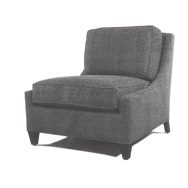 Armless Purple And Black Accent Chair Dimensions: MITCHELL ARMLESS CHAIR (With Images)