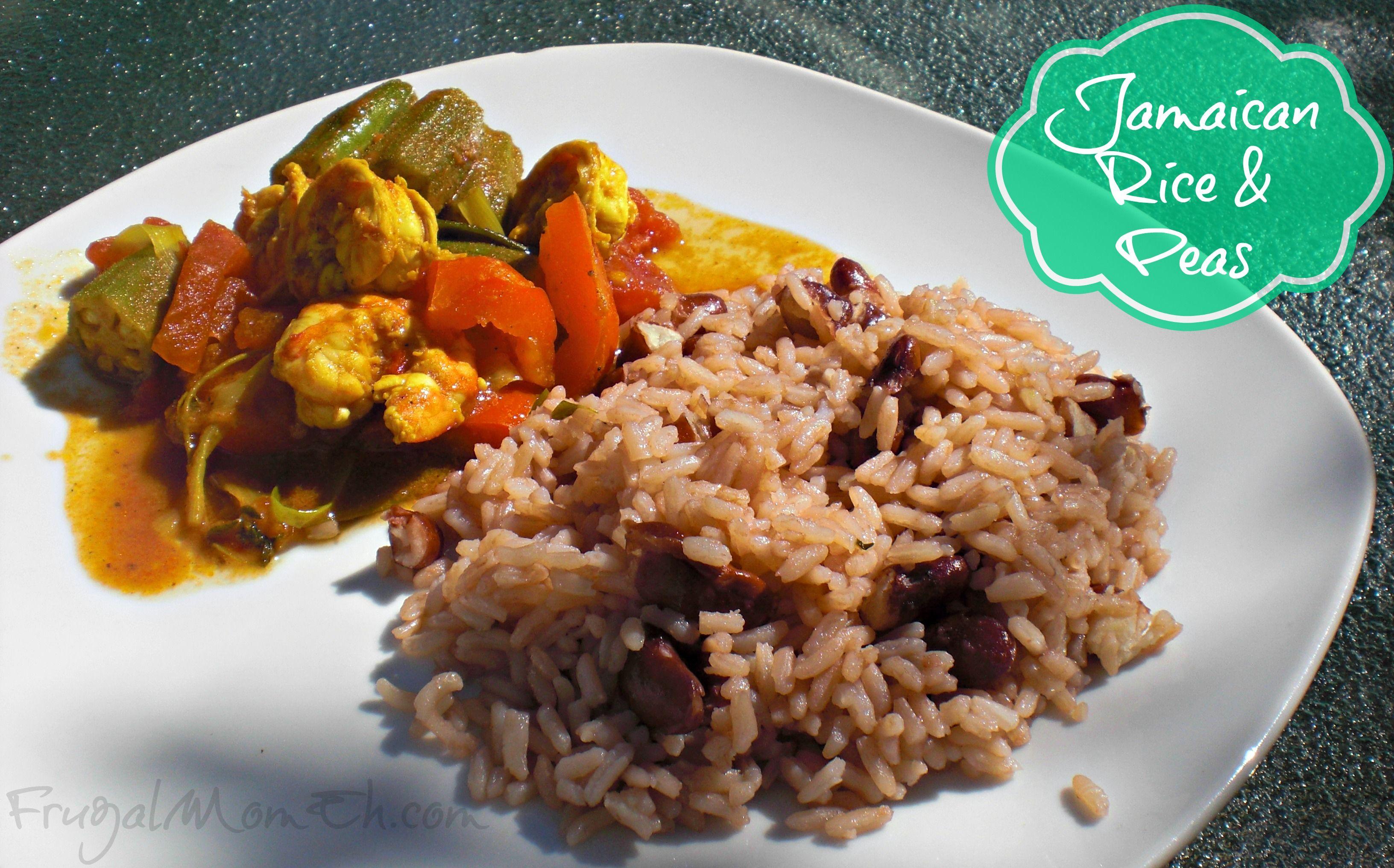 jamaican rice  peas  recipe  pea recipes jamaican rice