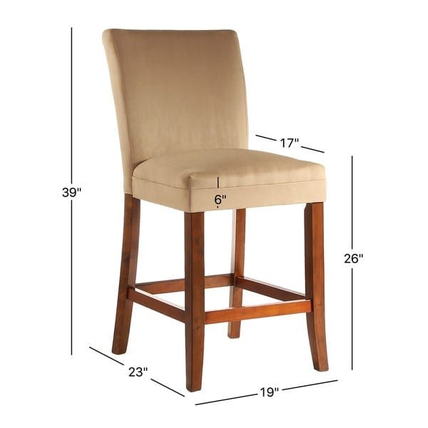 Parson Classic Upholstered Counter Height High Back Chairs (Set Of 2) By  INSPIRE Q