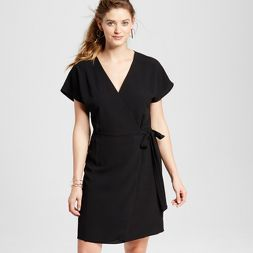 f84dc346171 Women s Short Sleeve Woven Wrap Dress - LORAMENDI