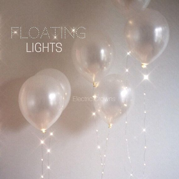 Anniversary Balloons, Party Decorations, Anniversary Party Decor, Wedding Anniversary Pearl White Helium Balloons that Float String Lights!