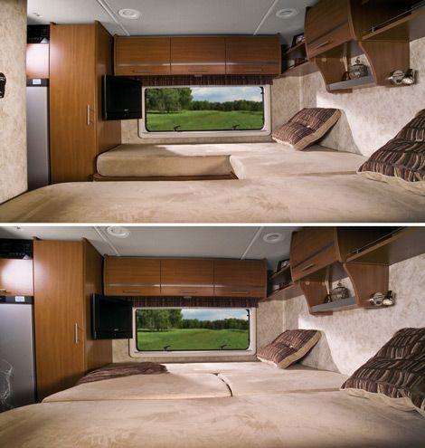 Winnebago Rv Features Flex Bed System Photos Camper Beds Rv Rv Living