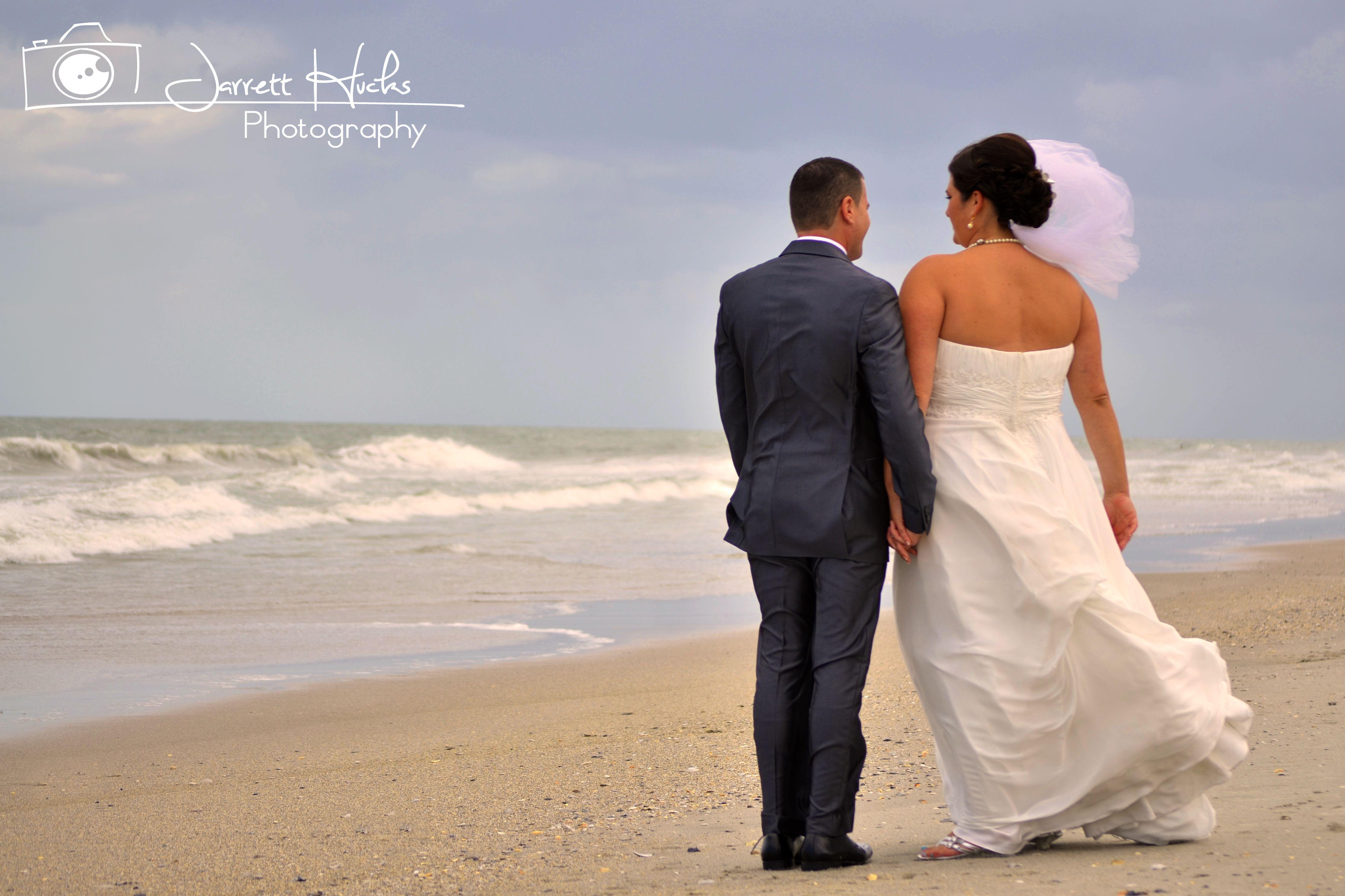 Beach wedding looks for bride  Jarrett Hucks Photography Beach wedding shot  Learning an art