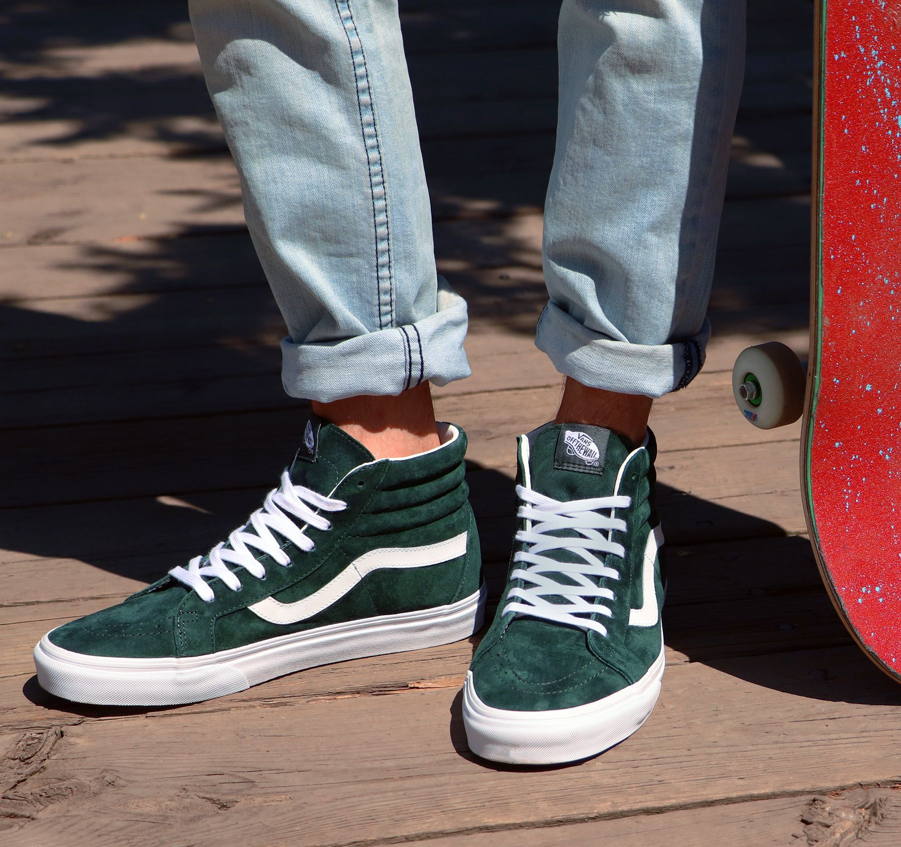4deac5f392  Vans  Sk8Hi in Darkest Spruce is brand new for the season. Shop men s sizes  in-store and online.