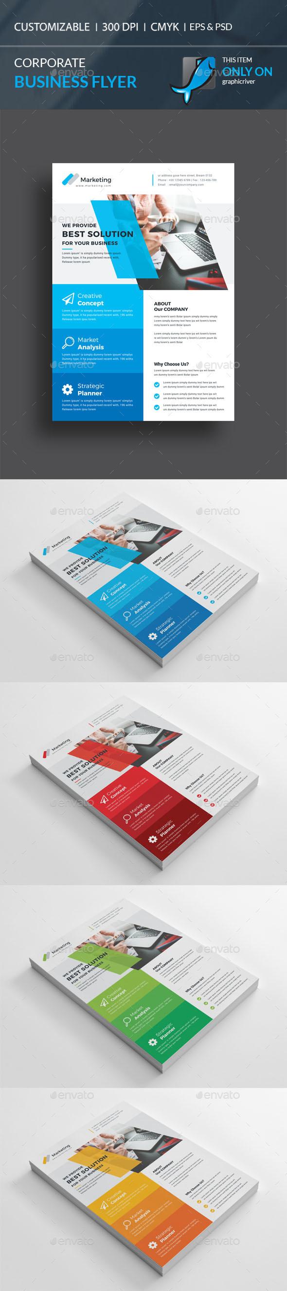 Corporate Flyer Template PSD, Vector EPS, AI Illustrator | Vistas ...