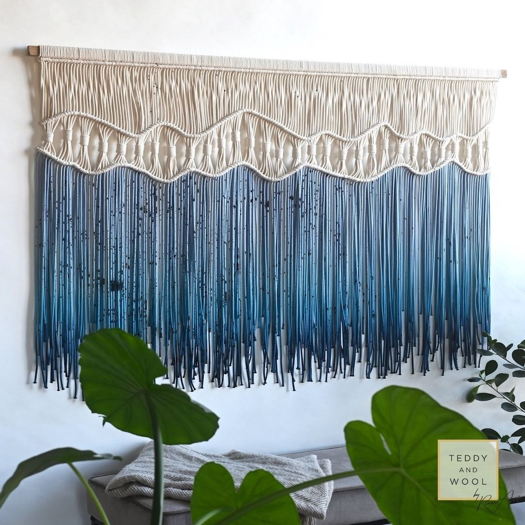 macrame wall hanging fiber art teddy and wool macrame on macrame wall hanging id=26508