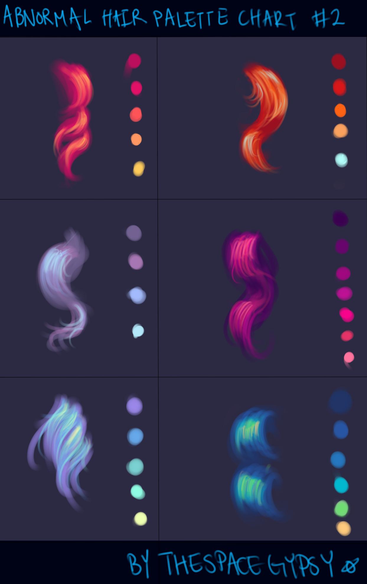 Colouring ColourScheme Abnormal Hair Color Palettes