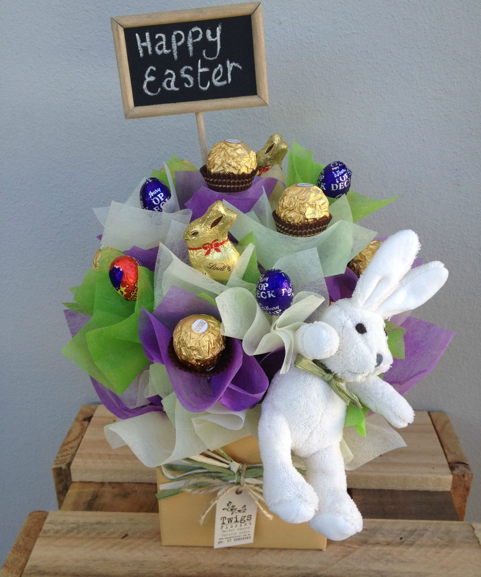 Easter chocolate ferrero rocher chocolates easter pinterest perfect easter gift delivered free to our local gold coast suburbs or available now for pick up from our varsity lakes florist shop negle Images
