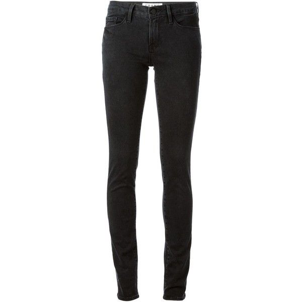 Frame Denim Inez Skinny Jeans ($161) ❤ liked on Polyvore featuring jeans, pants, bottoms, trousers, black, skinny leg jeans, frame denim jeans, black skinny leg jeans, denim skinny jeans et black denim skinny jeans