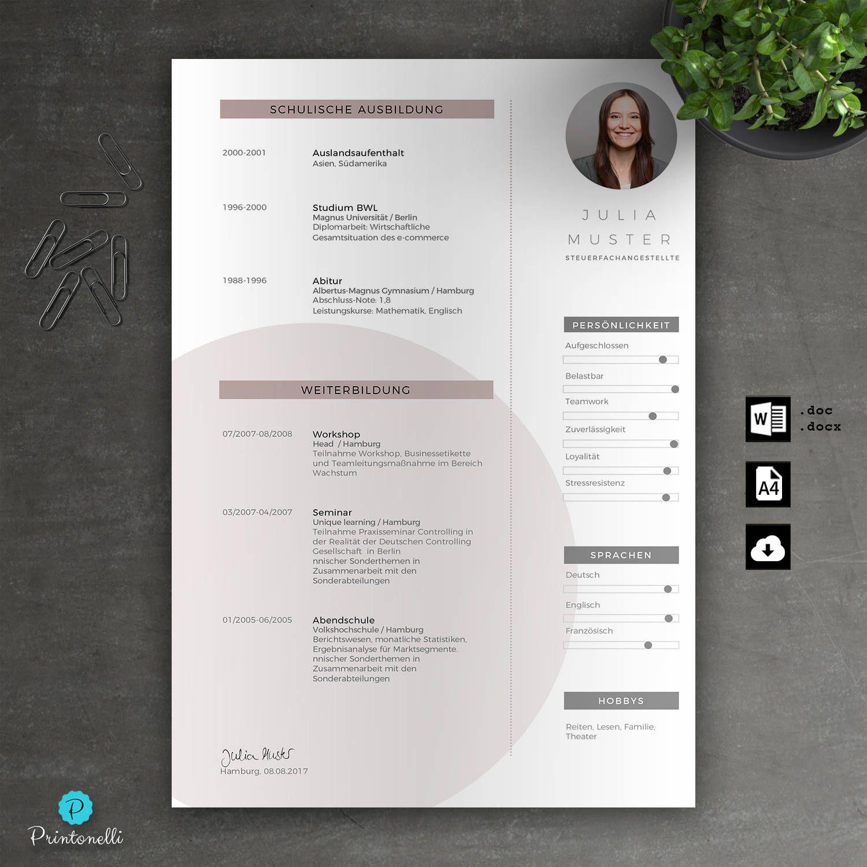 Application Template Word Cover Sheet Cv Cover Letter Letter Of Motivation Mac Pc No 7 3 Rose Din A4 Lebenslauf Anschreiben Deckblatt Lebenslauf Vorlagen Lebenslauf