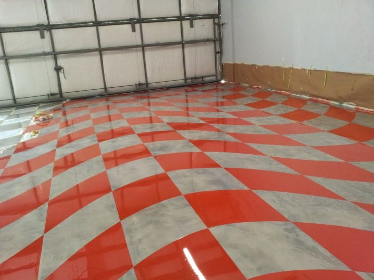 Hanger Epoxy Floor After Wave Checker Flag Port Orange