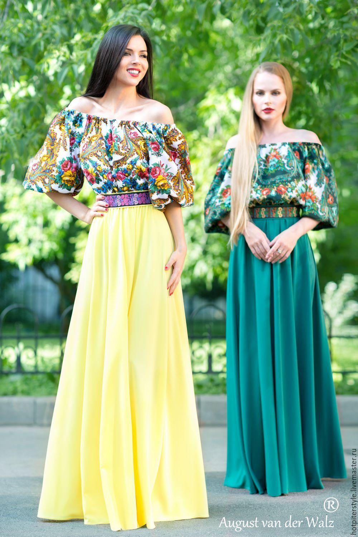 0a19ba99ddcdf38 Купить Платье в Русском стиле