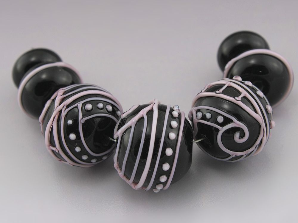 Beads Silver Scrolled Barrel Beads 13mm