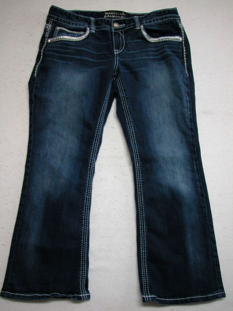 Maurices Stretch Boot Dark Wash Jeans Size 13 / 14 X Short (Measure 36 x 28) EUC #Maurices #BootCut