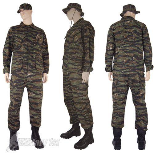 mfh bdu  MFH BDU Vietnam Ripstop Combat Shirt Tiger Stripe Thumbnail 5 | Camo ...