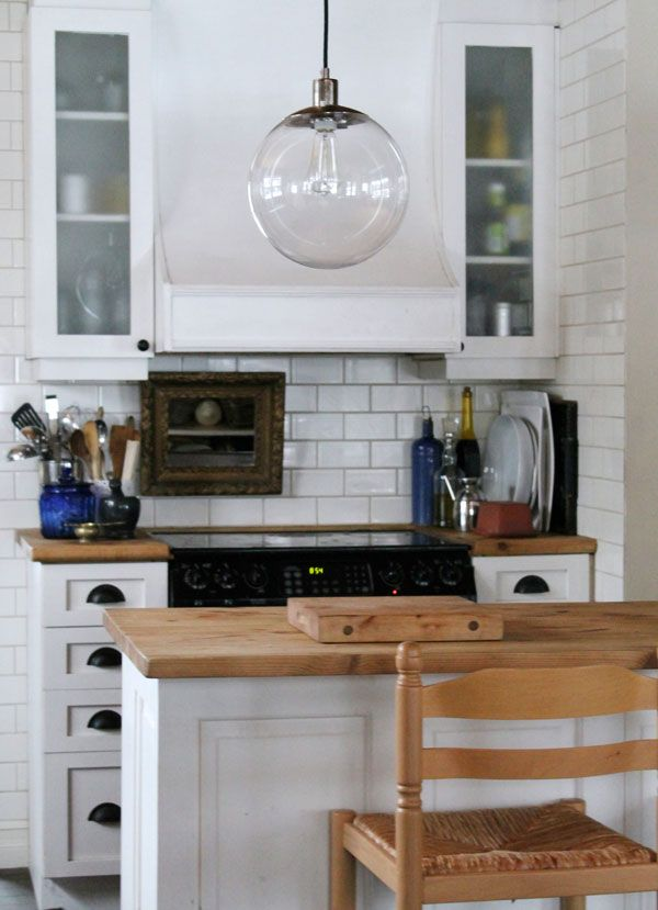 Marvelous I Want This For My Kitchen: Globe Pendant Light From West Elm In A Kitchen