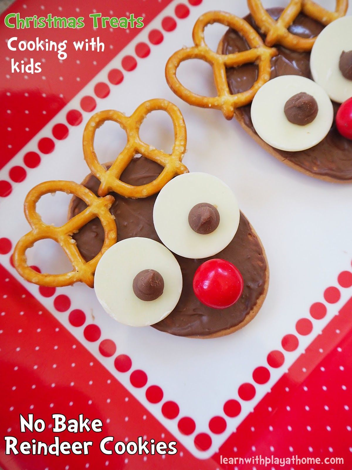 No Bake Reindeer Cookies. Fun Christmas Food Idea