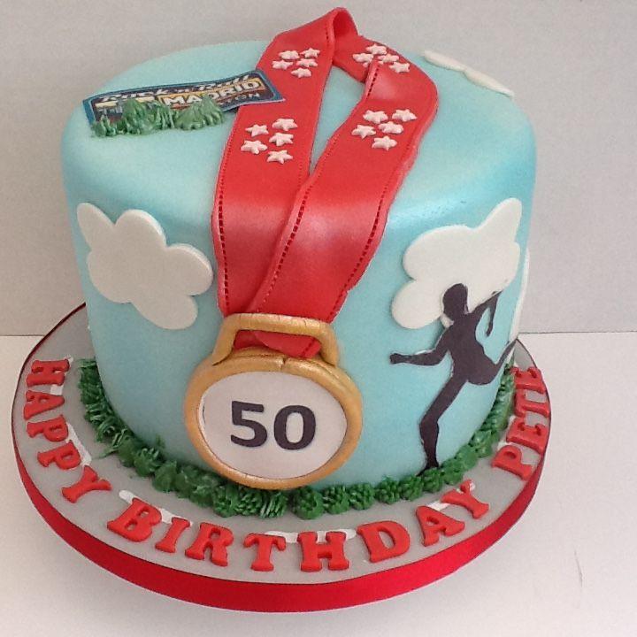 Birthday Cake For A Marathon Runner Cakes Pinterest Marathon