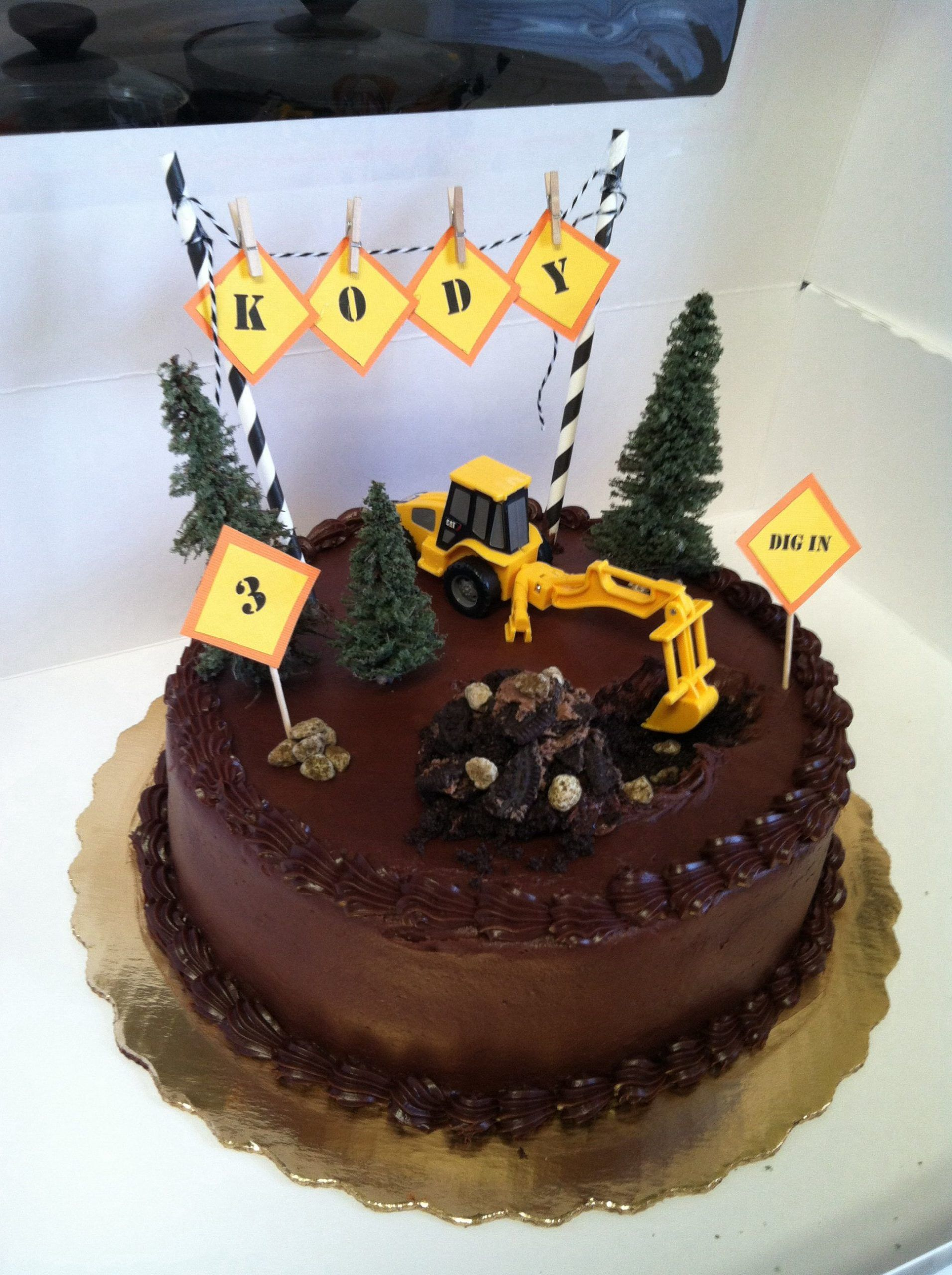 Kody's construction birthday cake, 2020 Doğum günü