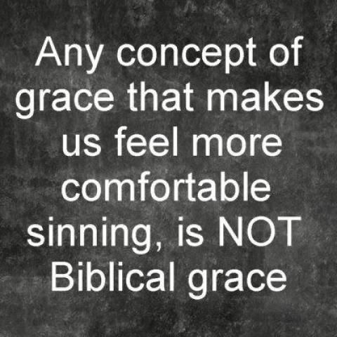 Biblical grace enables us to overcome sin.